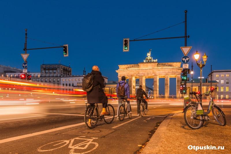 Велополосы на дорогах Берлина