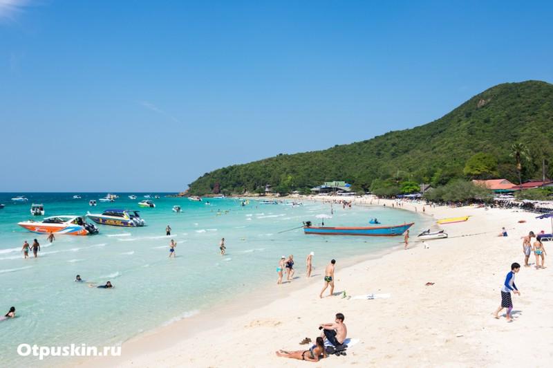 Чистое море и пляжи в Паттайе на острове Ко Ларн