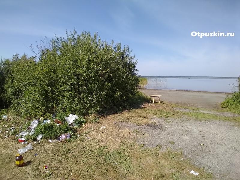 Тыгиш платный пляж около базы отдыха