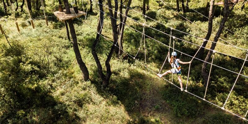 Веревочный парк в Греции Халкидики