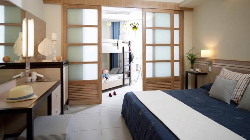 Семейные номера в отеле Esperides beach family на Родосе в Греции