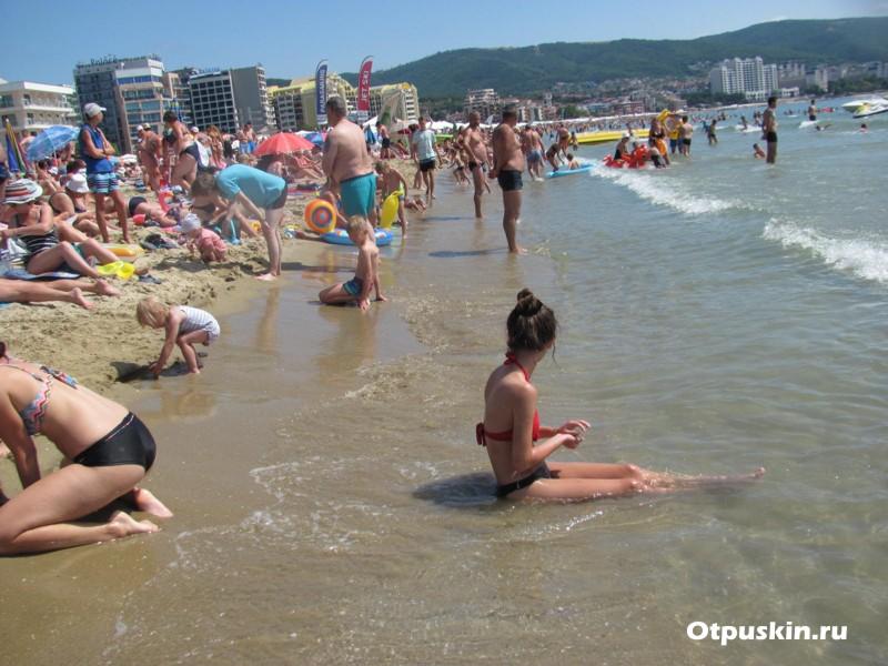 Болгария Солнечный берег пляж днем