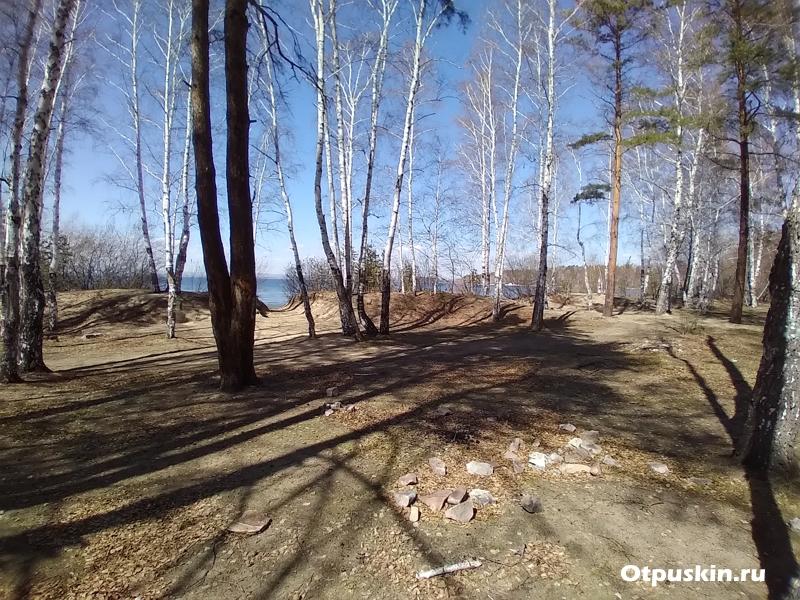 Рядом с поселком Увильды въезд платно палатки в лесу