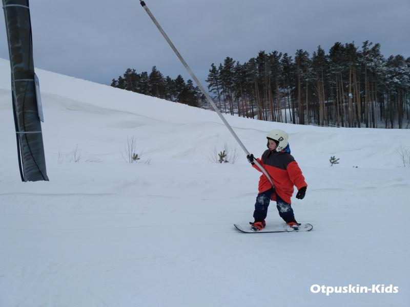 Уктус бугельный подъемник учебного склона - ребенок 7 лет